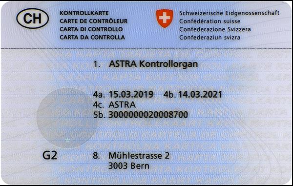Kontrollkarte ASTRA